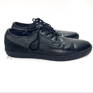 ALDO Leather Canvas lace up Sneakers Black 9.5